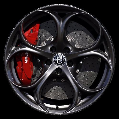 "19"" 2017-2019 Alfa Romeo Giulia Charcoal Rear Wheel 58167"