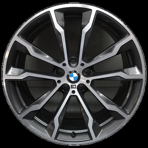 "20"" 2018-2020 BMW X3 X4 Machined Charcoal Rear Wheel 86361 Style 699"