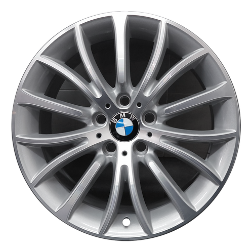 "18"" 2011-2019 BMW 528i 535i 550i 640i 650i Machined Silver Wheel 71629 Style 454"