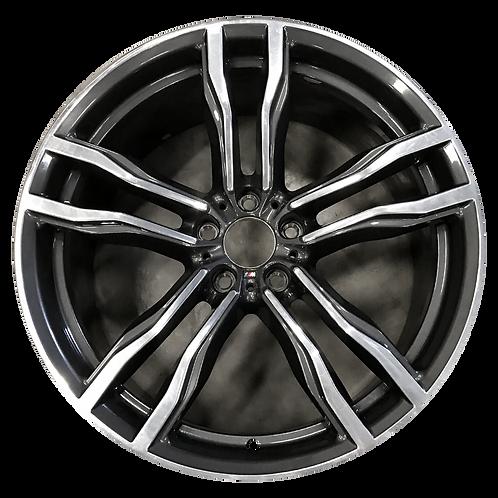 "20"" 2016-2020 BMW X5M X6M Polished Charcoal Rear Wheel 86195 Style 612"