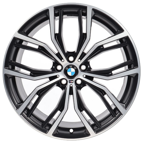 "21"" 2018-2020 BMW X3 X4 Machined Charcoal Rear Wheel 86366 Style 701"