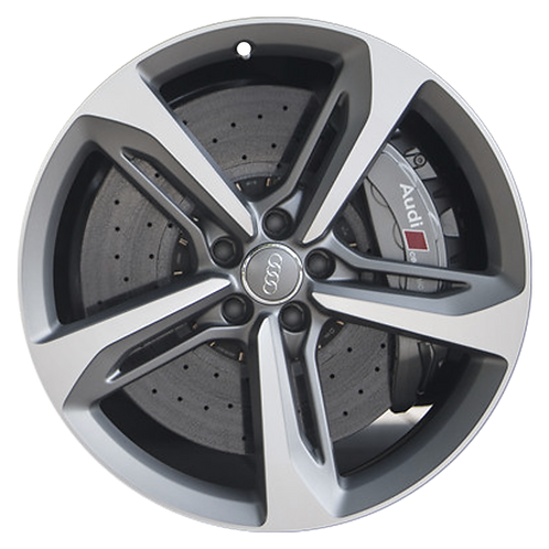 "21"" 2014-2018 Audi RS7 Machined Grey Wheel 58939"