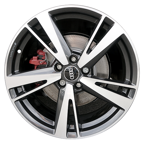 """19"""" 2017-2020 Audi RS3 Machined Black Front Wheel 59046"""