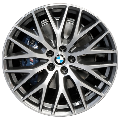 "20"" 2017-2020 BMW 530e 530i 540i M550i Machined Grey Front Wheel 86337 Style 636"