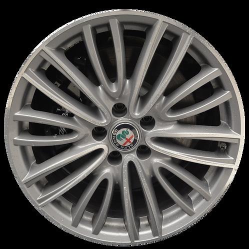 """18"""" 2017-2019 Alfa Romeo Giulia Machined Grey Wheel 58160"""