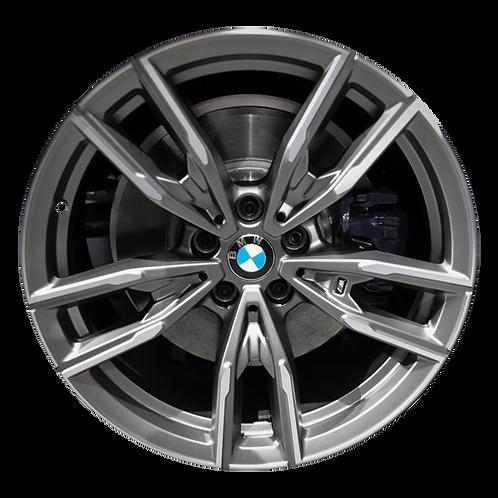 "19"" 2019-2020 BMW 330i M340i Machined Grey Rear Wheel 86502 & 96619 Style 792"