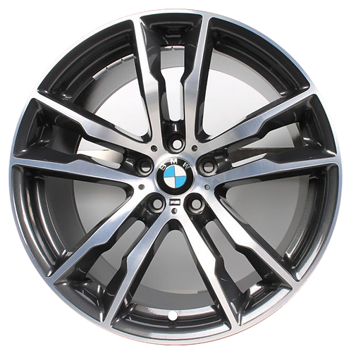 "20"" 2016-2020 BMW X5M X6M Machined Grey Rear Wheel 86193 Style 611"