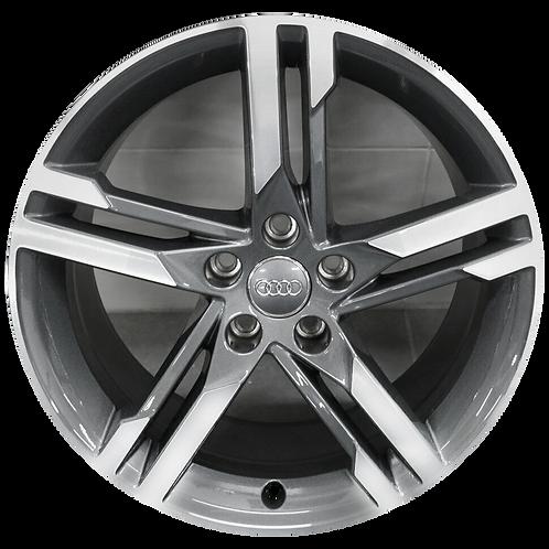 "18"" 2017-2018 Audi A4 Machined Grey Wheel 59002"