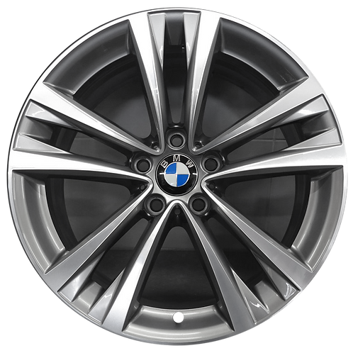 """19"""" 2016 BMW 528i 535i 550i Machined Grey Front Wheel 86224 Style 610"""