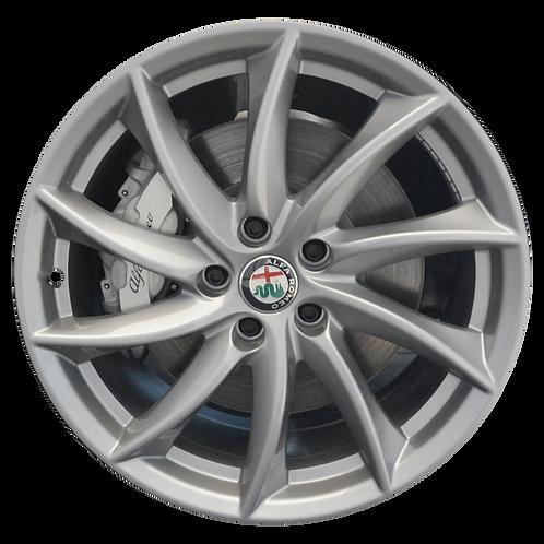"18"" 2017-2019 Alfa Romeo Giulia Silver Wheel 58159"