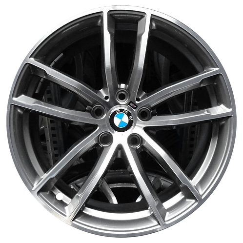 "18"" 2017-2020 BMW 530e 530i 540i M550i Dark Grey Rear Wheel 86327 Style 662"