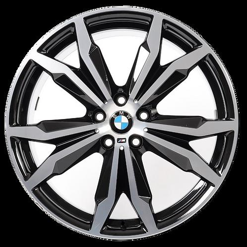 """20"""" 2018-2020 BMW X1 X2 Machined Black Wheel 86480 & 86481 Style 717"""