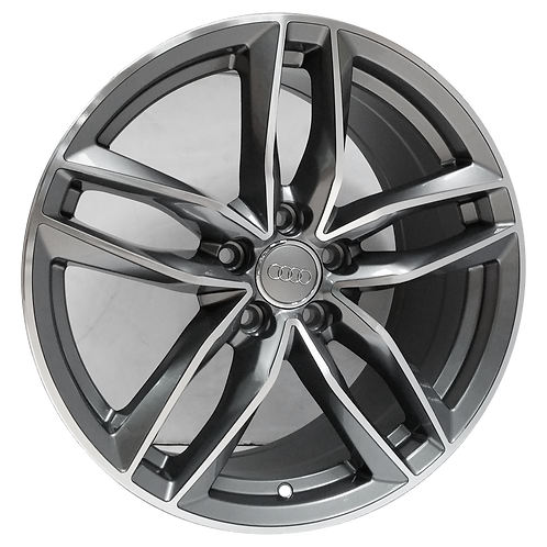 "20"" 2016-2018 Audi A6 S6 Machined Grey Wheel 58978"