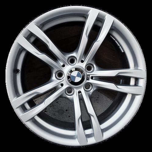 """18"""" 2014-2020 BMW 320i 328i 330i 340i 428i Silver Rear Wheel 86008 Style 441"""