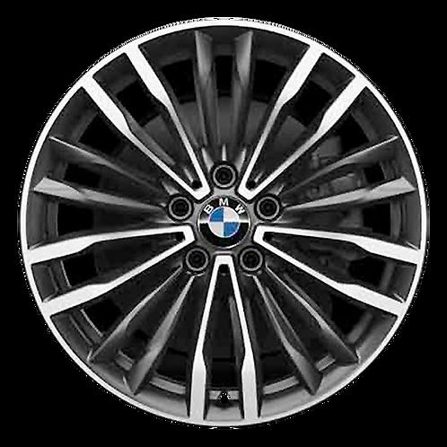 """19"""" 2019-2020 BMW 430i 440i Machined Grey Front Wheel 86407 Style 708"""