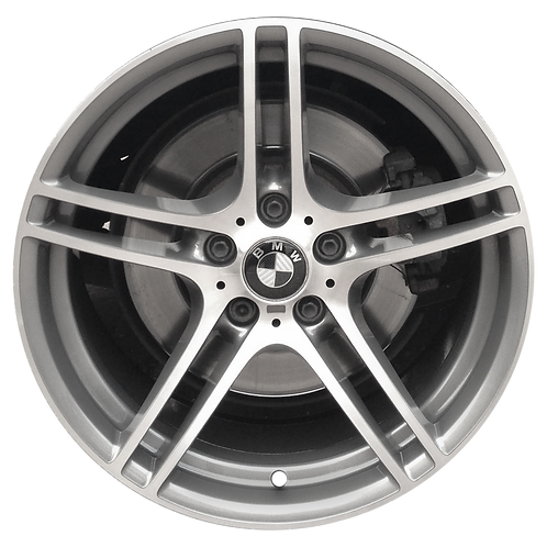 "18"" 2008-2013 BMW 128i 135i Machined Grey Rear Wheel 71367 Style 313"