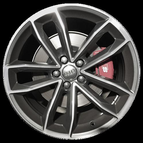 "19"" 2018-2019 Audi A5 S5 Machined Grey Wheel 59072 &97940"
