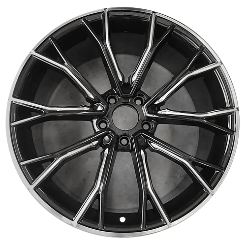 "20"" 2017-2020 BMW 530e 530i 540i M550i Black Rear Wheel 86342 Style 669"