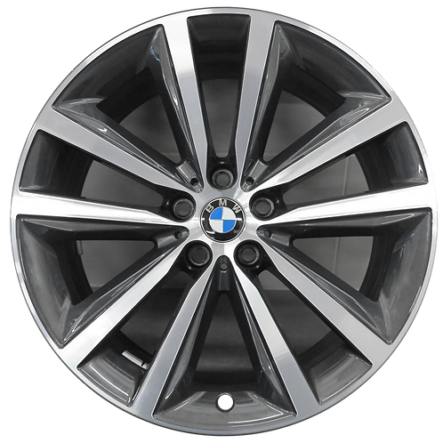 """19"""" 2019-2020 BMW 840i M850i Machined Charcoal Front Wheel 86415 Style 690"""
