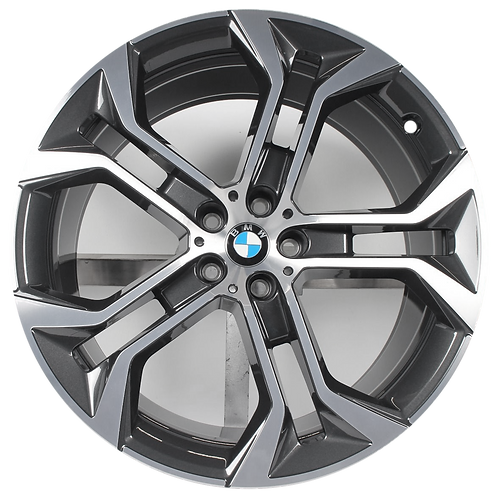 "21"" 2019-2020 BMW X5 X6 Machined Charcoal Front Wheel 86465 Style 744"