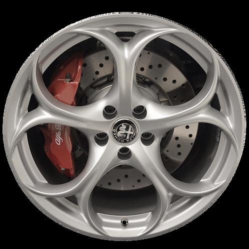 """19"""" 2017-2019 Alfa Romeo Giulia Hyper Silver Rear Wheel 58165"""