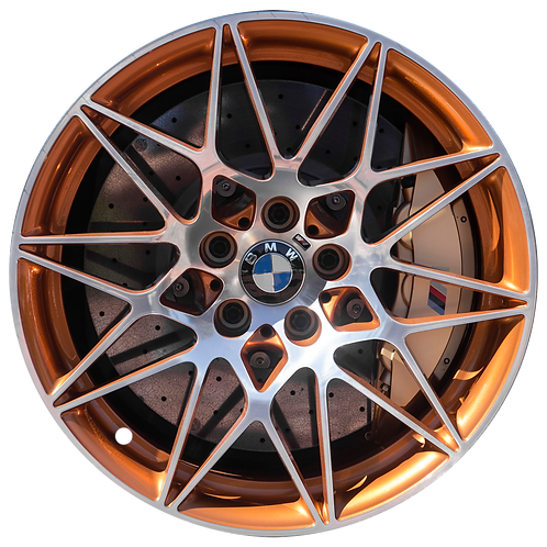 "20"" 2016-2020 BMW M4 GTS Machined Orange Front Wheel 86377 Style 666"