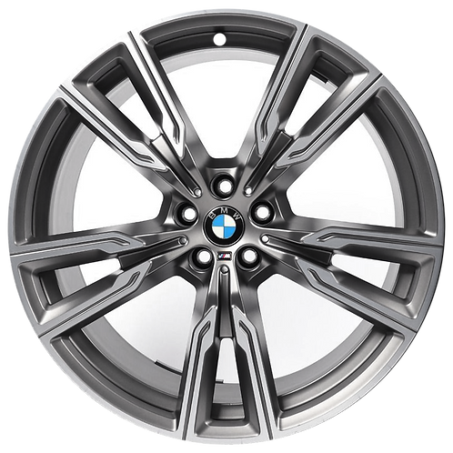 """22"""" 2019-2020 BMW X5 X6 Machined Charcoal Front Wheel 86470 Style 747"""