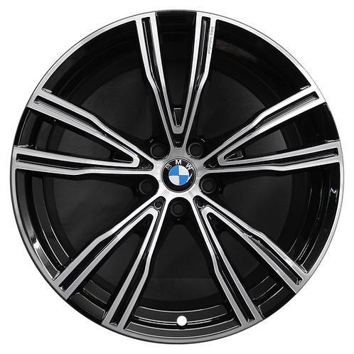 "20"" 2019-2020 BMW 840i M850i Machined Black Rear Wheel 86426 Style 730"