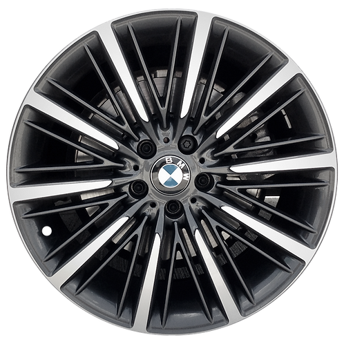 "20"" 2016-2019 BMW 640i 650i Machined Charcoal Front Wheel 86184 Style 616"