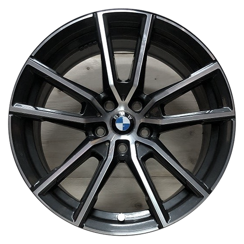 "18"" 2019-2020 BMW 330i M340i Machined Charcoal Wheel 86487 & 96620 Style 780"