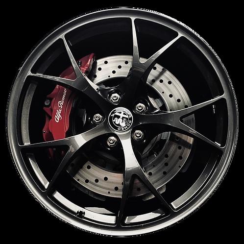 "19"" 2017-2019 Alfa Romeo Giulia Charcoal Rear Wheel 58163"