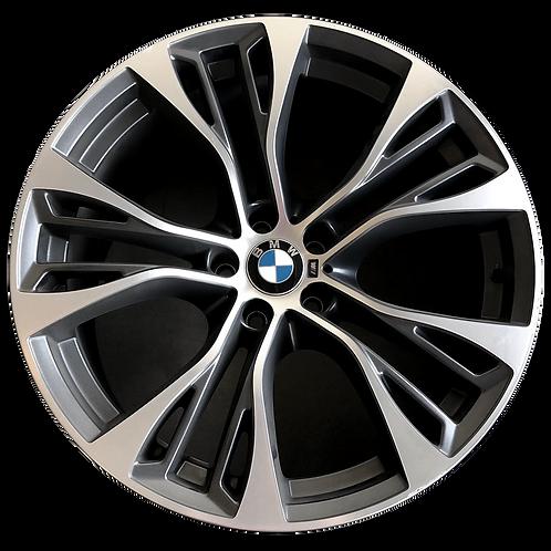 "21"" 2014-2019 BMW X5 X6 Machined Charcoal Rear Wheel 86063 Style 599"