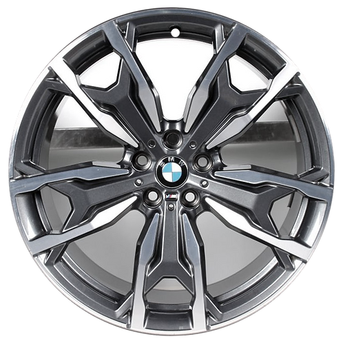 """20"""" 2019-2020 BMW X3 X4 Machined Charcoal Front Wheel 86453 Style 787"""
