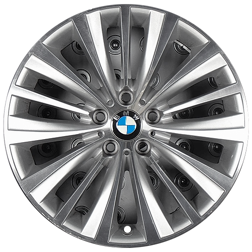 "19"" 2014-2017 BMW 535i GT 550i GT 740i 750i Silver Rear Wheel 86037 Style 458"