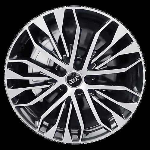 "20"" 2016-2018 Audi A6 Machined Charcoal Wheel 58974"