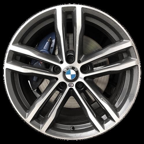 """19"""" 2018-2020 BMW 430i 440i Machined Orbit Grey Front Wheel 86568 Style 704"""