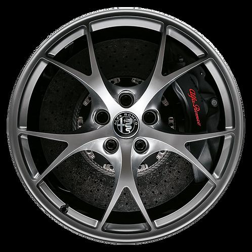 """19"""" 2017-2019 Alfa Romeo Giulia Hyper Silver Rear Wheel 58163"""