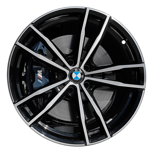 "19"" 2019-2020 BMW 330i M340i Machined Black Front Wheel 86498 Style 791"