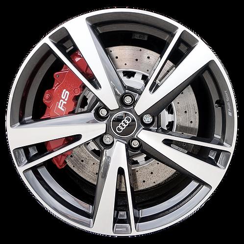 "19"" 2017-2020 Audi RS3 Machined Grey Rear Wheel 59045"