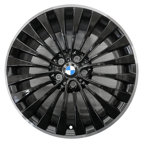 "20"" 2011-2019 BMW 528i 535i 550i 640i 650i Black Rear Wheel 71527 Style 410"