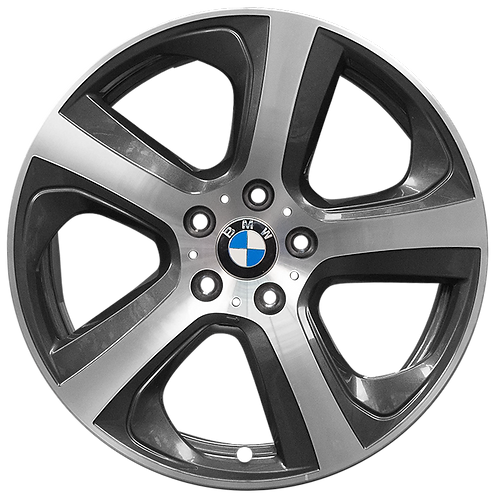"""19"""" 2014-2019 BMW X5 X6 Machined Charcoal Left Wheel 86048 Style 490"""