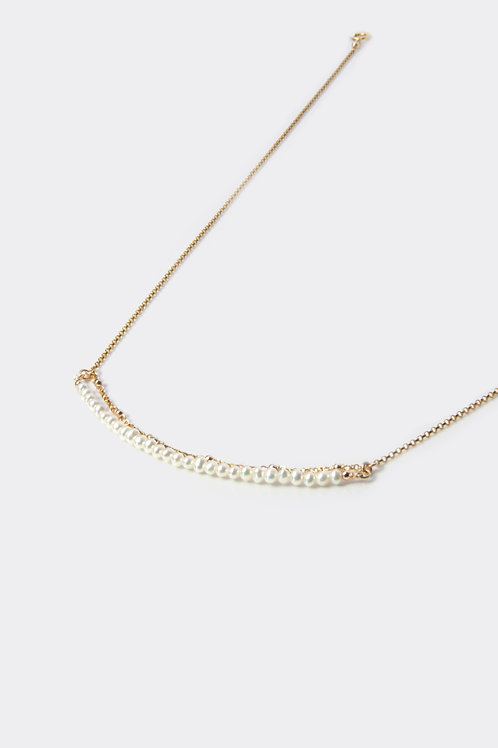 Gold Filled Pearl Bar Necklace