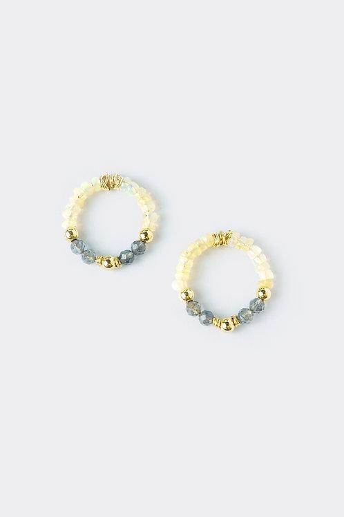 Gold Filled Opal/Iolite Earring