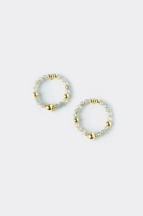 Gold Filled Labradorite Earring