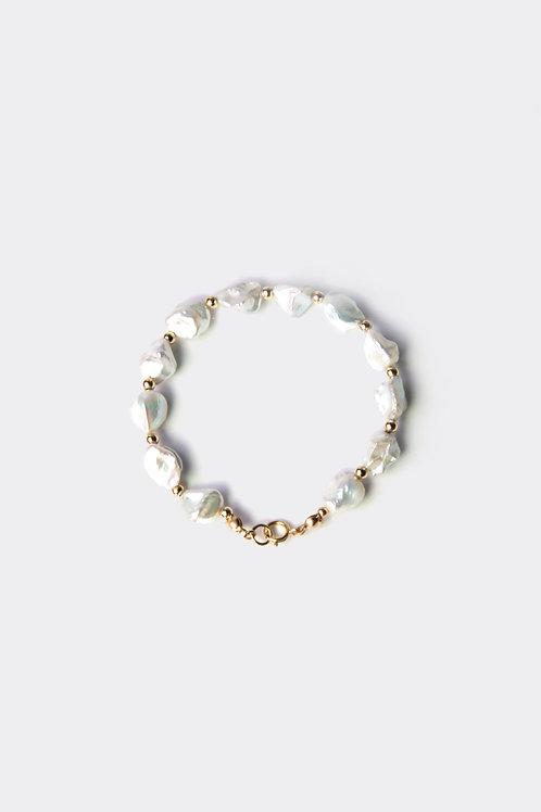 Gold Filled & Keshi Pearl Bracelet