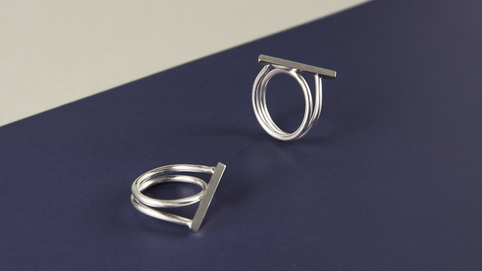 Wire and Bar Ring