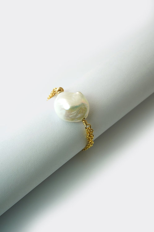 Gold Filled Baroque Pearl Ring