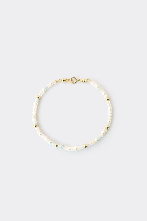 """Gold Filled Morganite/Aquamarine Bracelet"""