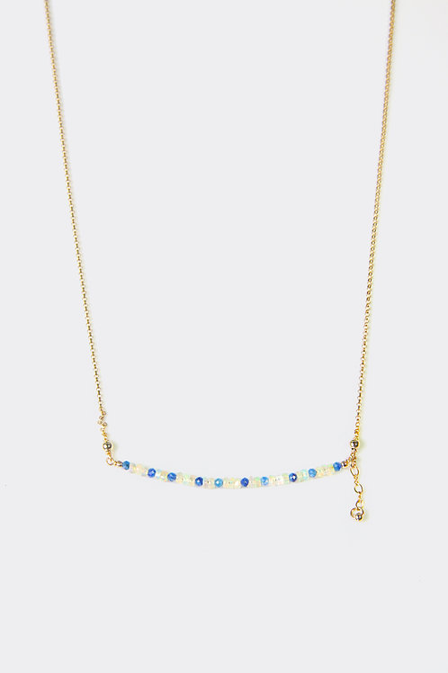 Gold Filled Kyanite & Opal Necklace