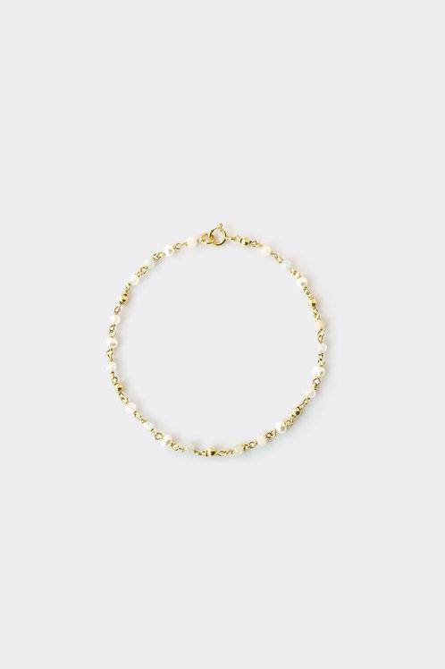 """Gold Filled Morganite/Aquamarine Bracelet (Chain)"""